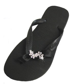 Havaianas with Crystal Flower Spray