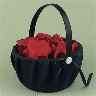 Midnight Rendevouz Black Flower Girl Basket