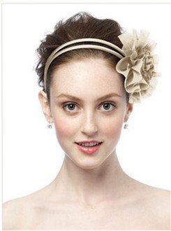 Palomino Chiffon Flower Pin/Headpiece