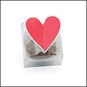 Heart Favor Boxes - 1 Truffle - Clear Favor Box
