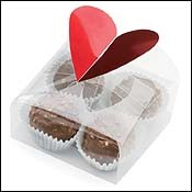 Heart Favor Boxes 4 Trufflle-Clear Favor Boxes with Hearts