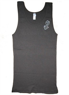 High Roller Rhinestone Tank - Size Large - Black