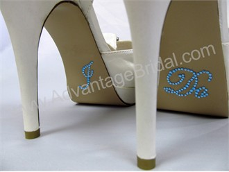 I Do Stickers for Bridal Shoes - Light Blue