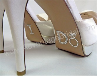 I Do Shoe Stickers for Bridal Shoes