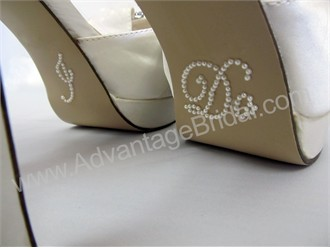 I Do Stickers for Bridal Shoes - Pearl