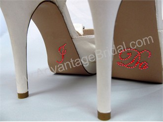 I Do Stickers for Bridal Shoes - Flame Red