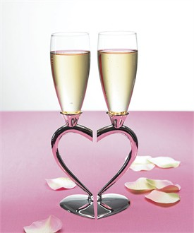 Interlocking Heart Flutes - Optional Engraving