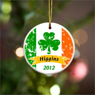 Irish Pride Christmas Ornament - Personalized