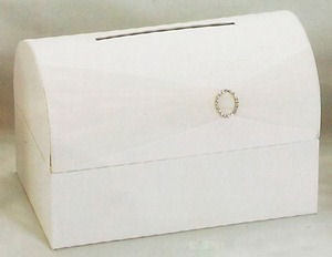 Ivory Money Card Box - Reception Gift Card Box