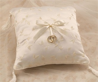 Ivory Ring Pillow