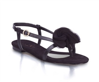Black Honey Bridal Sandals by Jen + Kim for Coloriffics Shoes