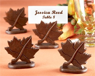 Classic Maple Leaf Place Card Holder (Set of 4)