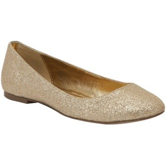 Kim by Colorful Creations Gold - Flat Wedding Shoes