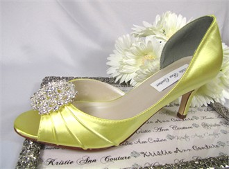 Kristie Ann Couture Magic Mirror Brooch Wedding Shoes