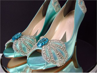 Under the Sea Wedding Shoes by Kristie Ann Couture