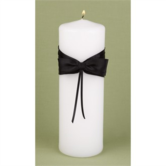 Lasting Radiance Black and White Unity Candle