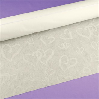 Linked at the Heart Aisle Runner in Ivory