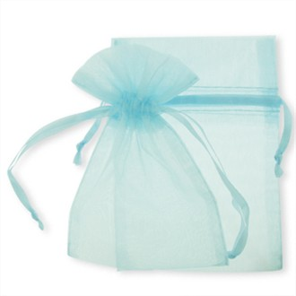 Baby Blue Organza Favor Bags - Set of 10 Wedding Favor Bags - Favor ...