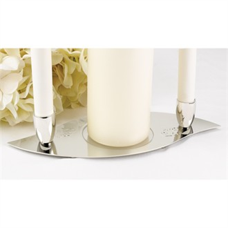 Linked Hearts Candle Holder