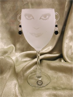 Lola Frosted Wine Glass - Available in Several Styles!