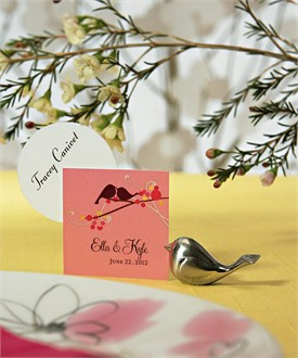 Love Bird Wedding Favor Place Card Holders