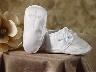 Boy's Satin Shoe with Celtic Cross