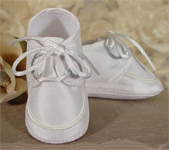Boys Christening Shoes - Boys Baptism Shoes in Silk Dupioni