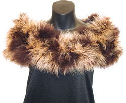 Mixed Brown Maribou Shoulder Wrap - Maribou Shrug