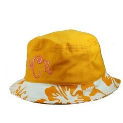 Monogrammed Hibiscus Beach Hat