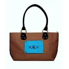 Monogrammed Canvas Lucy Handbag