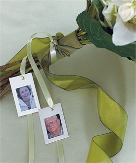 Miniature Embossed Photo Frame for Bouquet