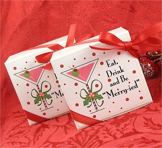Eat Drink and Be Merry-ied Favor Boxes