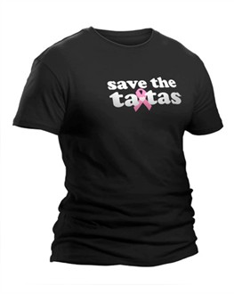 Men's Save the TaTas T-shirt in Black