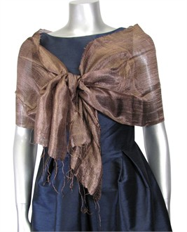 Silk Evening Shawl in Milk Chocolate