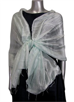 Silk Evening Wrap in Mint