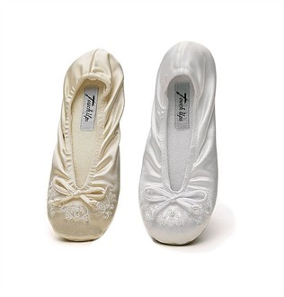 Girls' Satin Ballet Slippers - Flower Girl Ballet Slippers