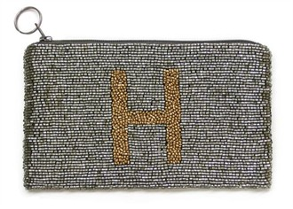Hand-Beaded Monogram Purse or Initial Purse