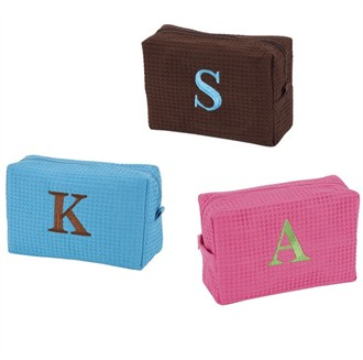 Monogram Cosmetic Bags in Four Colors