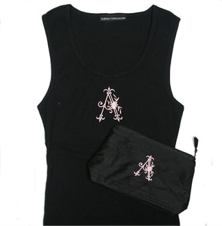 Monogrammed Tank and Cosmetic Bag Gift Set