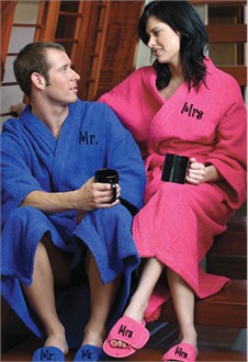 Mr. and Mrs. Robes and Optional Slippers