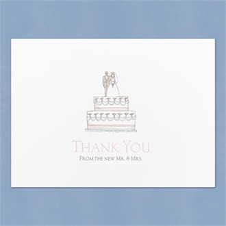Mr. and Mrs. Thank You Notecards