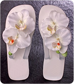 New!  Gorgeous Wedding Orchids Flip Flops