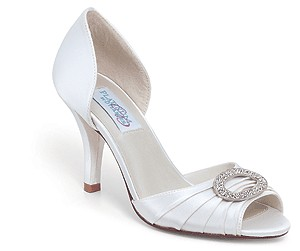 Onyx by Dyeables Silk Satin Bridal Shoes