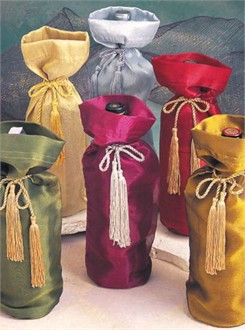Organza Wine Bags with Tassel Ties - Set of 6