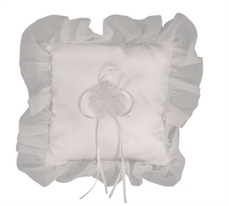 Organza Ruffled Ring Pillow