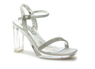 Pearl Clear Platform with Rhinestones Prom and Evening Sandal