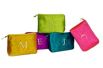 Personalized Cosmetic Bags - Dupioni Silk Cosmetic Bag
