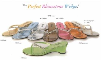 The Perfect Rhinestone Wedge in Metallic Colors