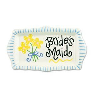 Personalized Bridesmaid Trinket Tray