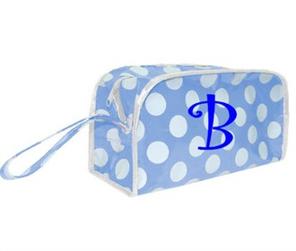 Light Blue Cosmetic Bag - Personalize It!